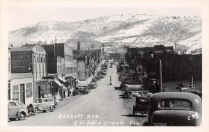 Cripple Creek CO Shell & Conoco Gasoline Garages~Pumps~Sandwich Shop RPPC 1940s