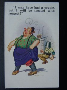 Boozy Drunk Theme I MAY HAVE HAD A COUPLE...BUT RESPECT!!! c1920s Comic Postcard