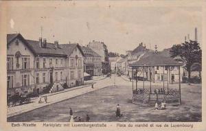 Esch-Alzette , Luxembourg , PU-1919 , Marktplatz mit Luxemburgerstrasse