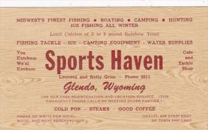 Wyoming Glendo Sports Haven