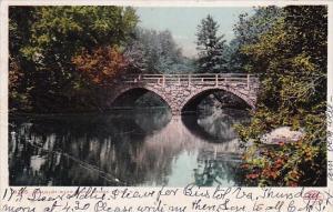 New Hampshire Keene Ashuelot River Stone Ridge 1907