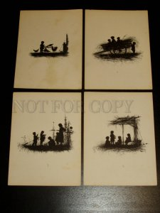 155278 SILHOUETTE by Elisaveta BEM Set 10 lithographs 1882