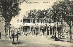 danish west indies, St. THOMAS, National Bank (1910s)