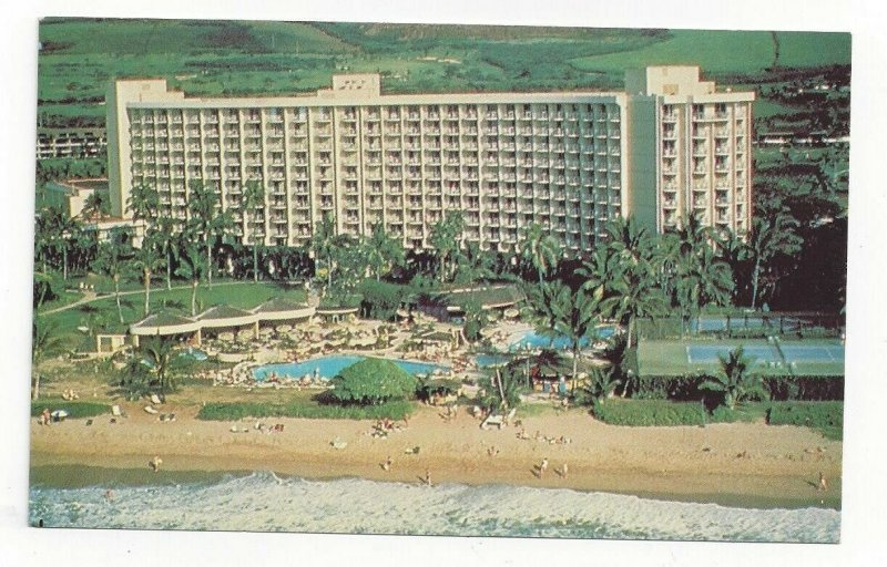 KAANAPALI BEACH, Maui, Hawaii, 1940-60s; Maui Surf, Swimming Pools, Tennis Court