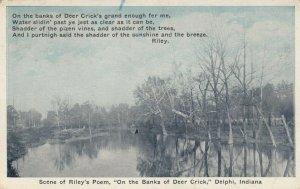 DELPHI, Indiana , 00-10s; Scene of Riley's Poem, On the Banks of Deer Creek