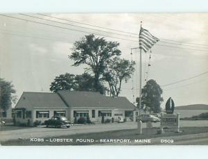 Old rppc KOBS LOBSTER POUND RESTAURANT Searsport Maine ME t2676