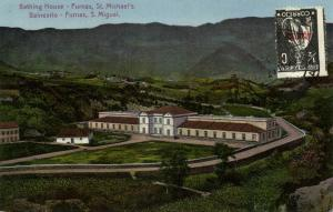 portugal, Azores Acores, SAÕ MIGUEL, Furnas, Bathing House (1923) Postcard