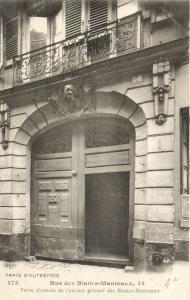 CPA Paris 4e (Dep. 75) Rue des Blancs-Manteaux (58460)