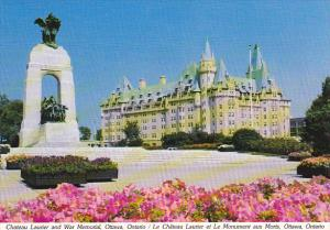 Canada Chateau Laurier and War Memorial Ottawa Ontario