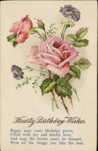 Hearty Birthday Wishes roses flowers