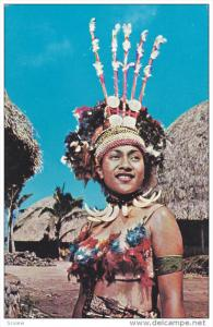 Samoa Girl In A Ceremonial Dress, 40-60s