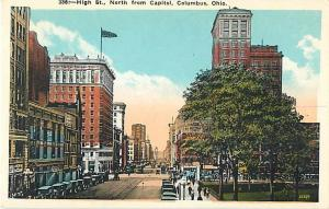 High Street, North from Capitol, Columbus, OH, Ohio, White Border