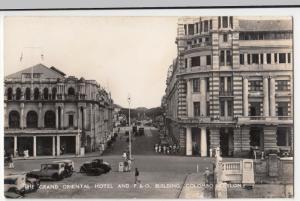 Sri Lanka / Ceylon; Grand Oriental Hotel & P&O Building RP PPC, Unused, c 1930's