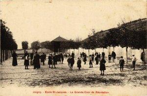 CPA Joigny - Ecole Saint-Jacques - La Grande Cour de Recreation FRANCE (960704)