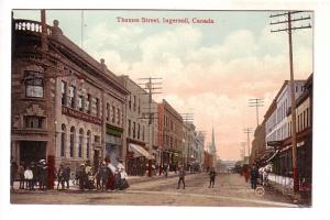 People Walking on Thames Street, Ingersoll, Ontario,