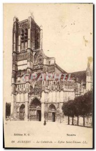 Old Postcard Auxerre The Cathedral Church of Saint Etienne