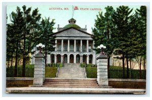 Postcard State Capitol, Augusta ME Maine G33