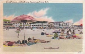New Hampshire Hampton Beach Sun Bathers On The Beach 1960