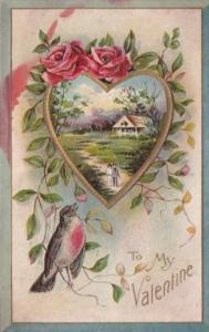 Valentine's Day Beautiful Heart With Landscape Scene