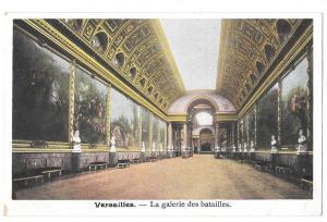 France Versailles Palace Galerie des Batailles Postcard