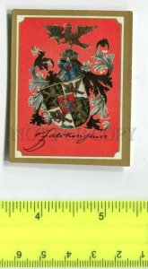 428127 coats of arms Vintage Friedrich Hindenburg Tobacco Card w/ ADVERTISING