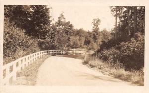 Shingleton Michigan~White Fence Along Roadside~Highway~Nice & Cool~1926 RPPC