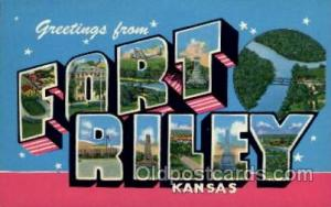 Fort Riley, Kansas Large Letter Town Towns Post Cards Postcards  Fort Riley, ...