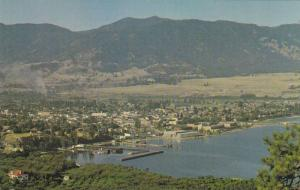 View of an apple orchard, Penticton, British Columbia, Canada, 40-60s