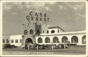 C. Valles Mexico Hotel Casa Grande Real Photo Postcard
