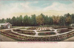 Massachusetts Springfield Hot House And Flower Beds In Forest Park