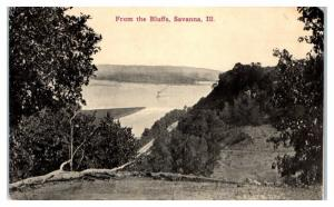 1913 From the Bluffs, Savanna, IL Postcard