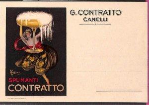 Lib588 - CARTOLINA d'Epoca - PUBBLICITARIA Illustrata:  Cappiello CONTRATTO Vino