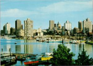 Vancouver BC British Columbia Waterfront Boats Unused Vintage Postcard D38