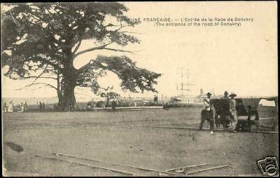 french guinea guiné, ENTRANCE ROAD TO CONAKRY (1910)