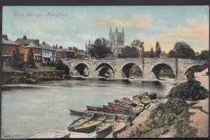 Herefordshire Postcard - Wye Bridge, Hereford    RT915