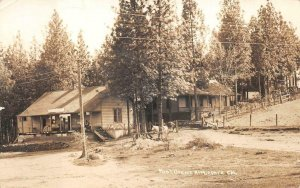 RPPC POST OFFICE APPLEGATE CALIFORNIA WHITE HORSE REAL PHOTO POSTCARD (c. 1910)