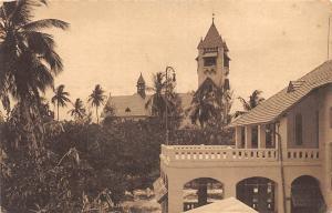 German East Africa Tanzania, Der Kaiserhof in Daressalam Terrasse Kirche Church