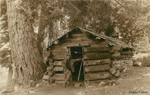 RPPC Postcard Forest Home Vangaurd at Dobb's Cabin San Bernardino CA