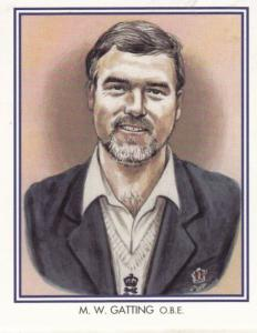 MW Mike Gatting Middlesex Cricket Club Cricketer Rare Cigarette Card