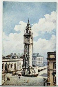 Ireland Belfast Albert Memorial Raphael Tuck Oilette Postcard D18