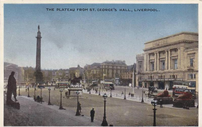 Liverpool , England , PU-1949 ; The Plateau from St George's Hall