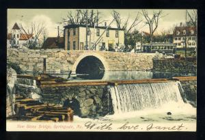 Springvale, Maine/ME Postcard, New Stone Bridge