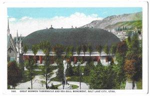 Great Mormon Tabernacle and Sea Gull Monument, Salt Lake City, Utah, Beehive