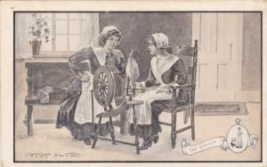 AS: The Gossip, Women sitting with a spinning wheel, 00-10s