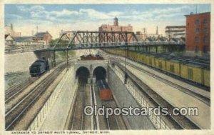 Detroit River Tunnel Entrance, Detroit, Michigan, MI, USA Trains, Railroads 1...
