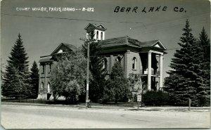 Vtg  RPPC 1940s Paris Idaho ID Bear Lake County Court House UNP Cecil Nixon