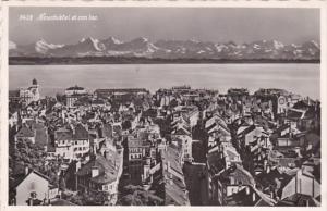 Switzerland Nuechatel et son Lac 1958 Photo