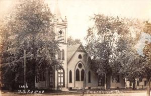 Princeville Illinois ME Church Real Photo Antique Postcard K103782