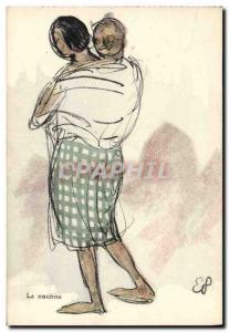 Old Postcard Orientalism The nanny