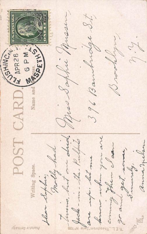 Flatiron Building, Manhattan, New York City, Early Postcard, Used in 1908